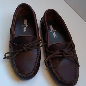 Minnetonka Leather Driving Slippers Size7.5